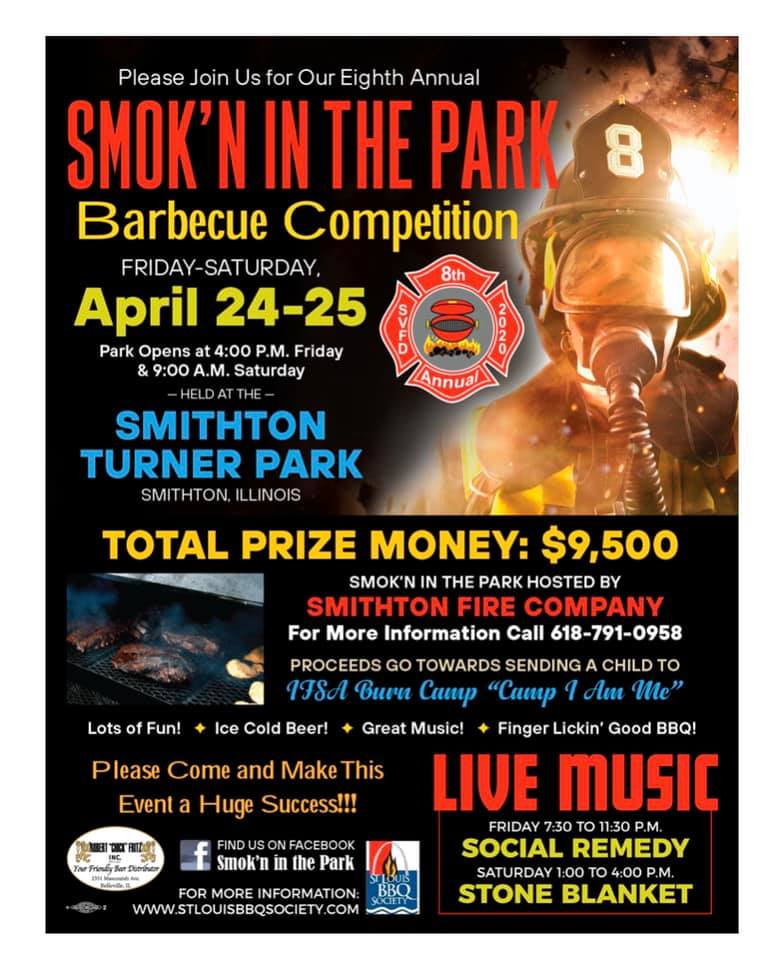 2020 Smokn in the Park Flyer